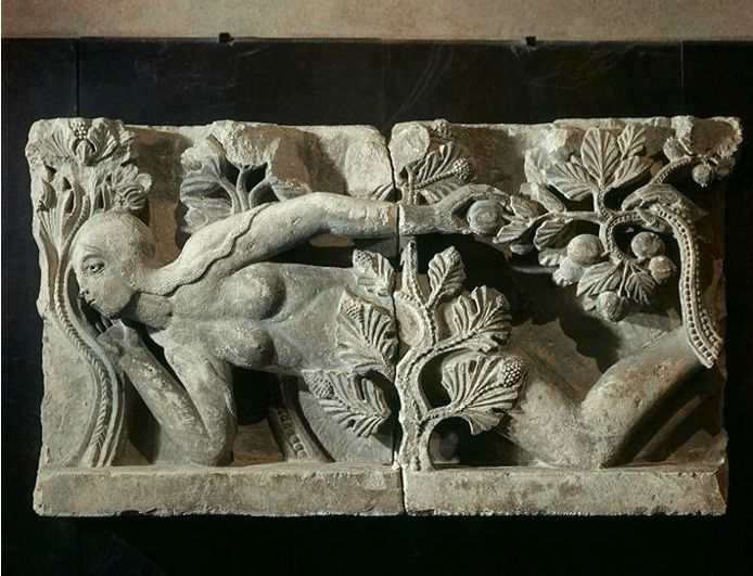 C p photo relief carving of eve formerly part the