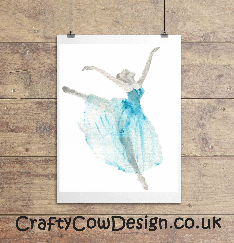 Watercolor Ballerina Ballet Gift Dance Gifts Ballerina Wall Art