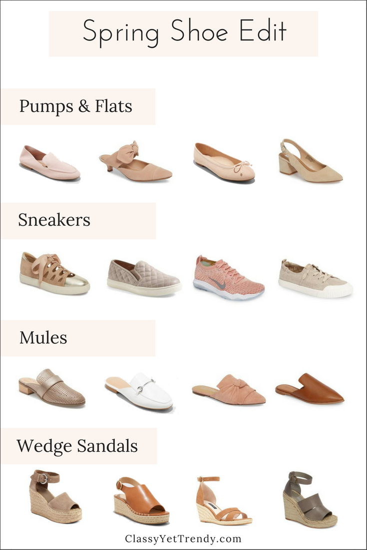 spring shoe Spring Shoe Edit - See a few new shoes Ive found and find out which shoes are on-trend this Spring!