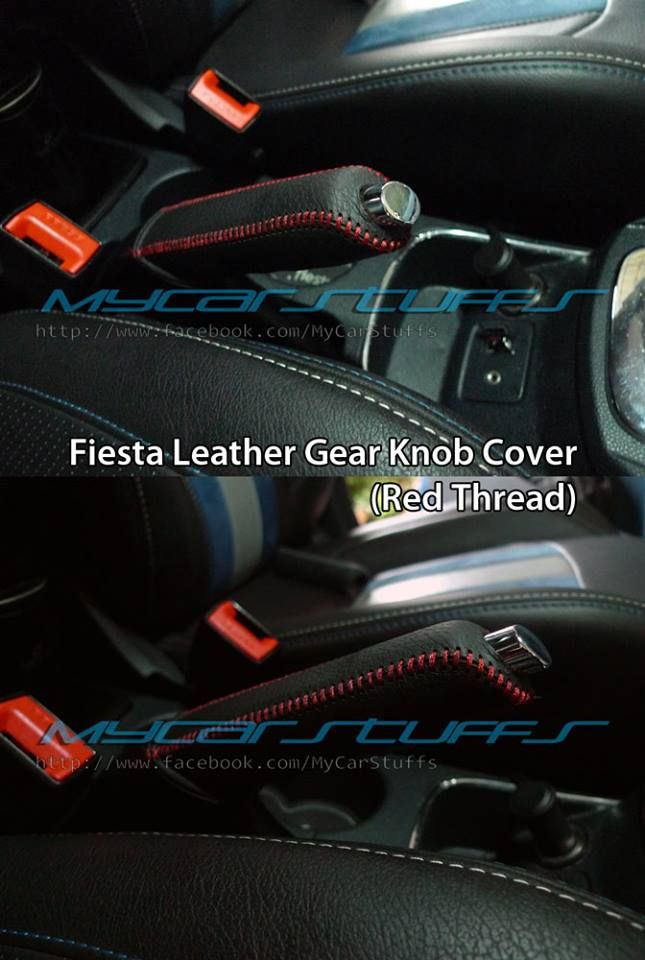Fiesta Handbrake Leather Cover With Red Thread Also Available In Blue Thread Leather Gear Leather Cover Leather
