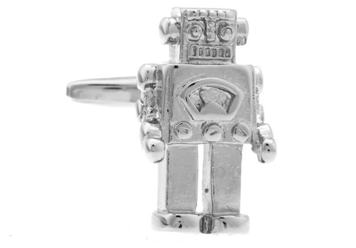 With retro being all the rage, you'll be totally on trend wearing these fabulous robot cufflinks. Take a time trip back to the 60′s with these gorgeous novelty cufflinks. Crafted from polished rhodium, these little guys will look fabulous adorning your cuffs. Don't delay, grab your pair today.
