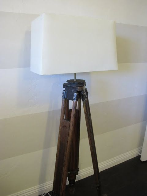 How To Make A DIY Tripod Lamp tutorial on dreambookdesign.com