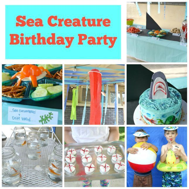 sea creature or ocean theme party for 5 year old boy ocean party