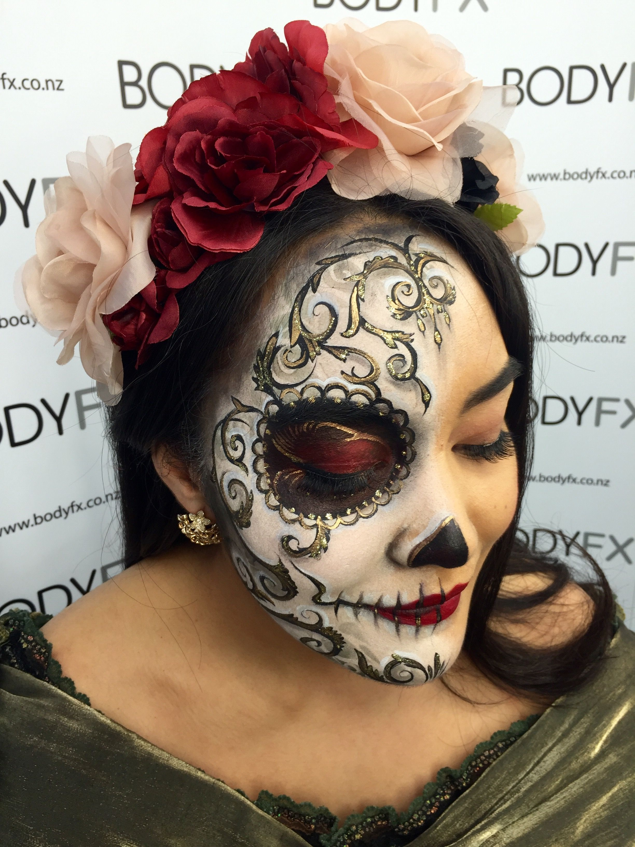 Makeup done by SFX MUAs, working at BODYFX NEW ZEALAND. in