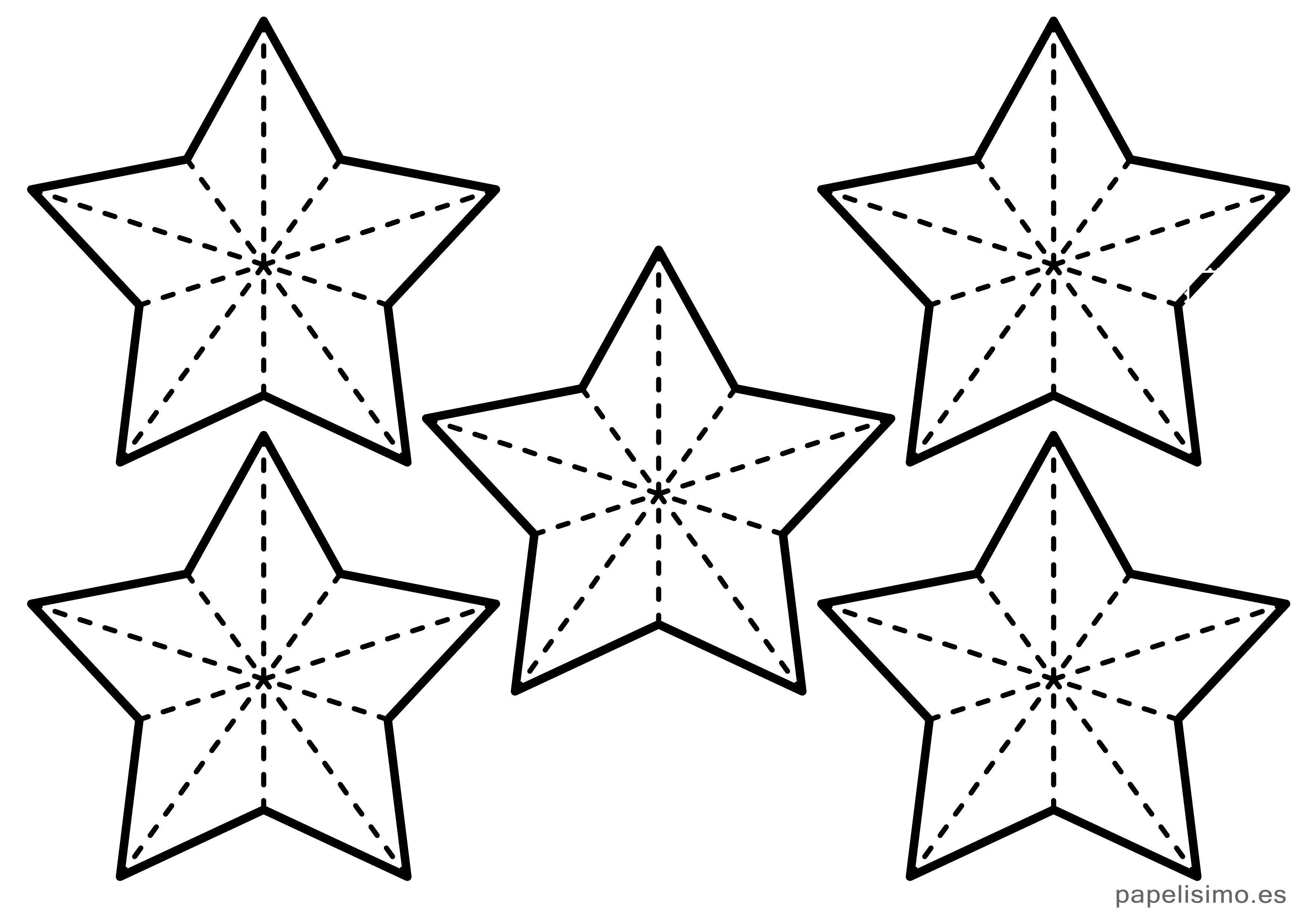 plantilla-estrellas-cinco-puntas-navidad-varias-pequenas | navidad ...