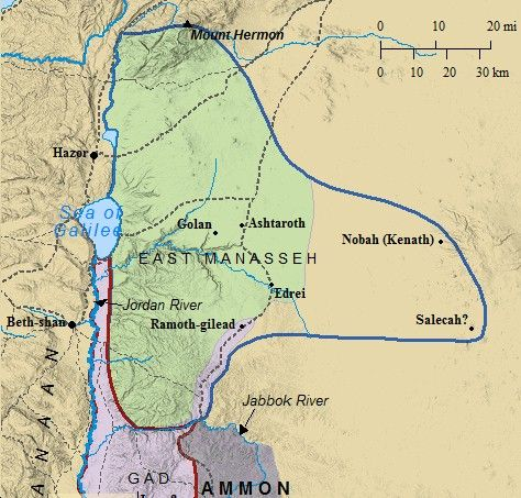 A map of Palestine detailing the modern day borders of the Ancient