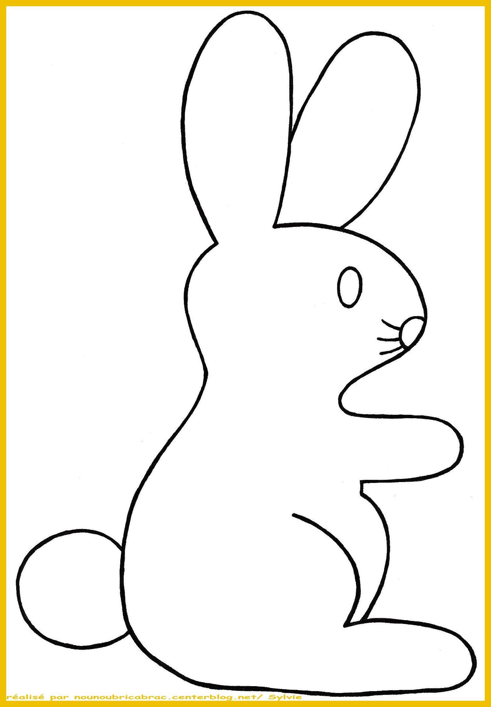 Lapin de p ques 1 gabarit tourn vers la droite p ques pinterest lapin de p ques - Bricolage lapin de paques ...