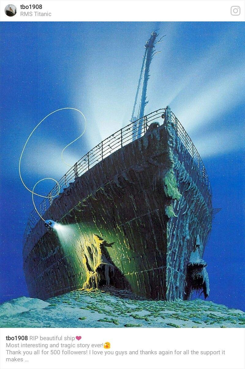 Titanic crash site photos