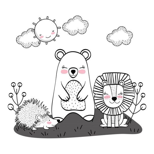 Wild Animals Drawings : Wild animals drawings Premium Vector Discover thousands …
