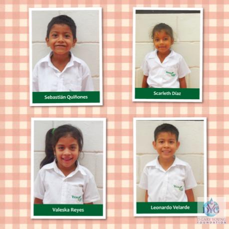 Meet a few 1st grade students at Young Living Academy - Sebastian, Scarleth, Valeska and Leonardo!