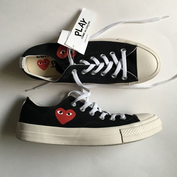 76f832d281a2ba CDG Converse Low (Old Version) Low top CDG X Converse in Black. This ...