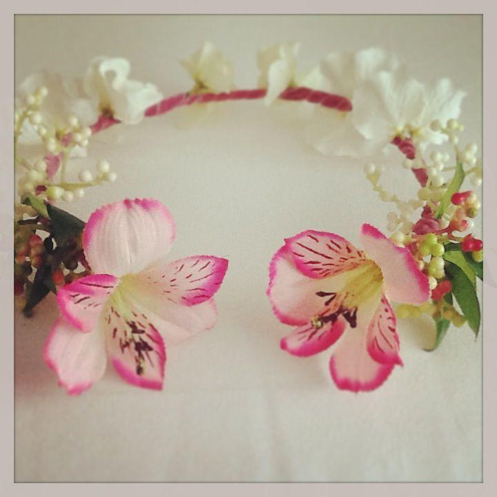 coronas accesorios de flores para el cabello - Como Hacer Diademas De Flores