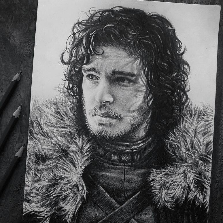 Jon Snow Drawing By Fame Art Desenhos Desenho Realista Desenho