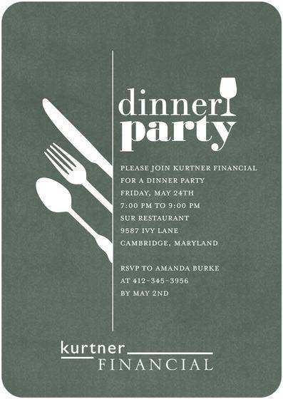 Dinner Party Invite Party Invite Design Dinner Invitation