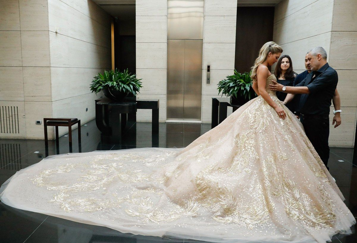 Photo of Elie Saab Designed the Most Beautiful Wedding Dress for His Daughter-in-Law