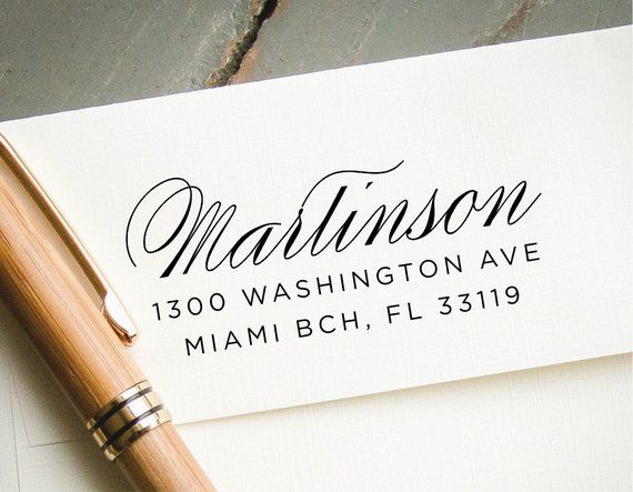 Return Address Stamp Self Inking Custom Rubber Personalized Cu