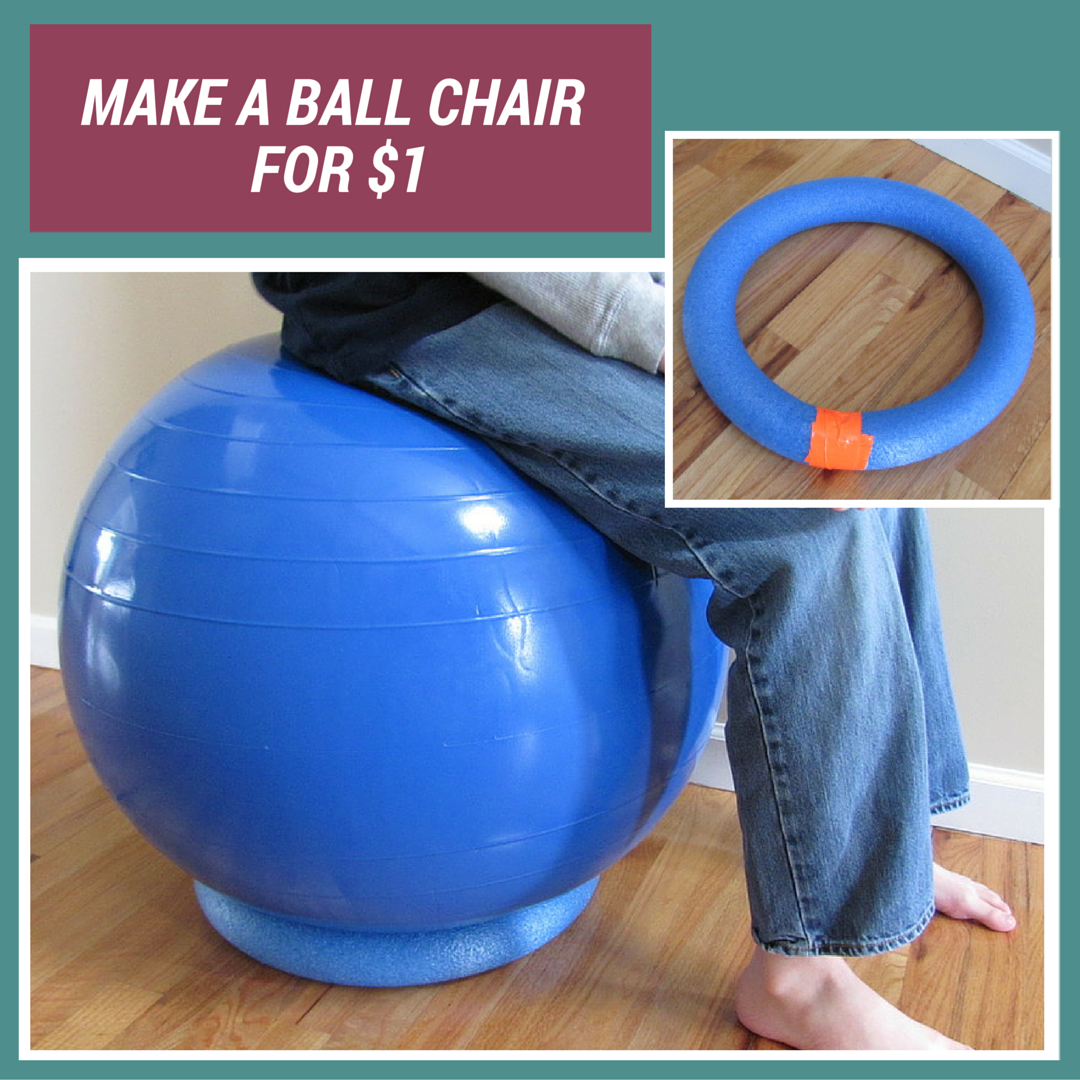 diy exercise ball chair base plastic adirondack with cup holder sweet need a for your balance balls use pool
