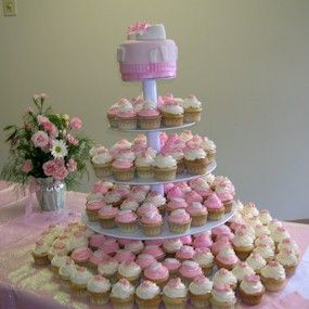 Captivating Baby Shower Cupcake Cake | BabyPuddle