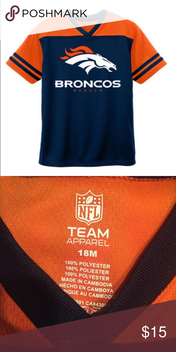 NFL Denver Broncos Toddler Short Sleeve Top Size: 18M NFL Shirts & Tops Tees - Short Sleeve
