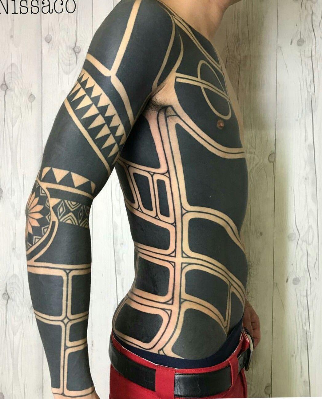 Nissaco Marquesantattoos Marquesan Tattoos Tattoo Electronic Circuit Board Full Sleeve Blackwork Male Bike Tribal Black Large
