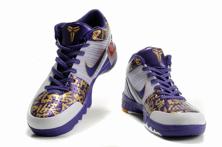Nike Zoom Kobe 4 (IV) White Purple Yellow Shoes