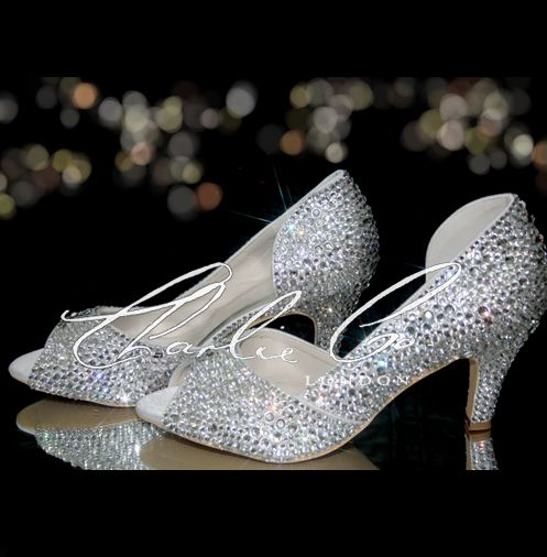 Cute Low Crystal Heels Wedding Shoes Heels Wedding Shoes Trending Shoes