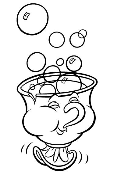 Bubble Station Disney Coloring Pages Beauty And The Beast
