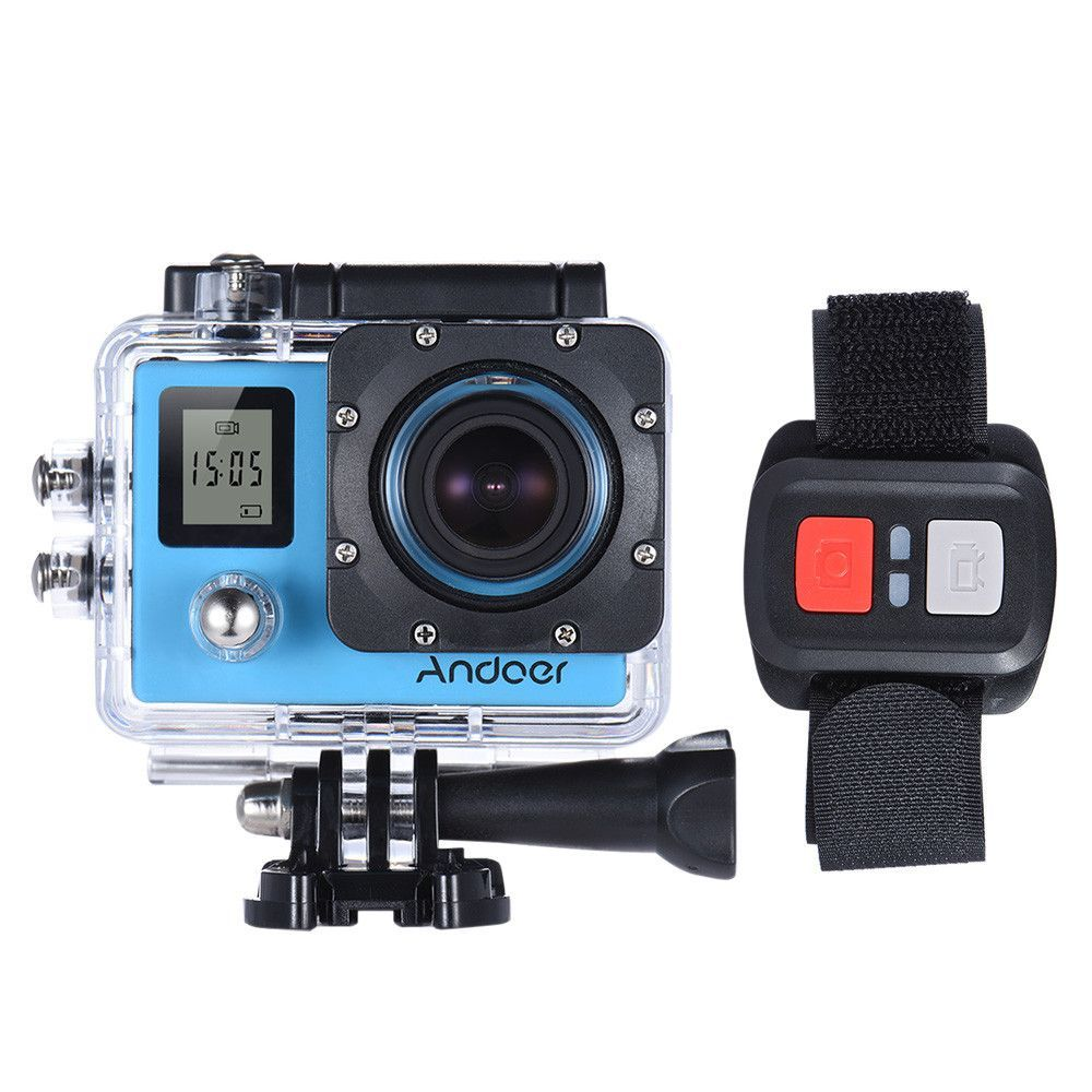Andoer Remote Control WiFi 4K Action Camera 4X 1080P Full