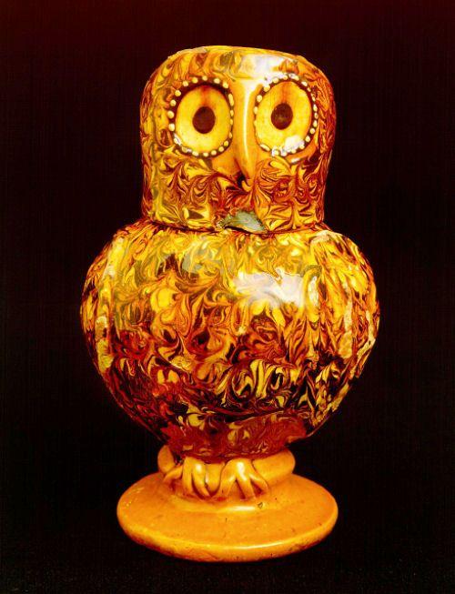 Ozzie The Owl A North Staffordshire Slipware Owl Jug