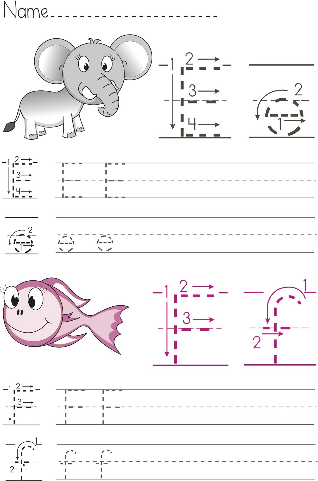 Free Writing Worksheets for Preschool and Kindergarten abc – Kindergarten Name Writing Worksheets
