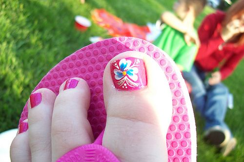 toe nail designs | Toe Nail Designs Gallery: Beautiful Flower Summer Toe Nails Design
