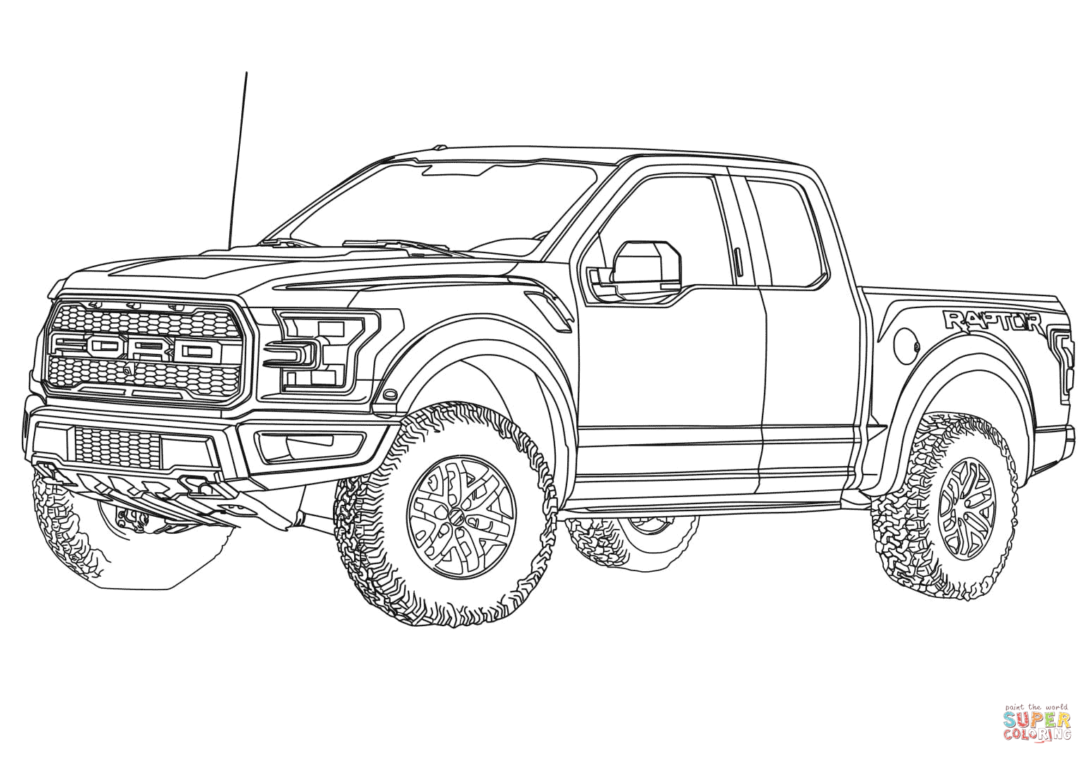Related Image Truck Coloring Pages Ford Raptor Truck Cars Coloring Pages