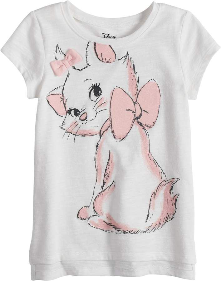 0002d2134db96 Disney's Aristocats Marie Toddler Girl Cat Graphic Tee by Jumping ...