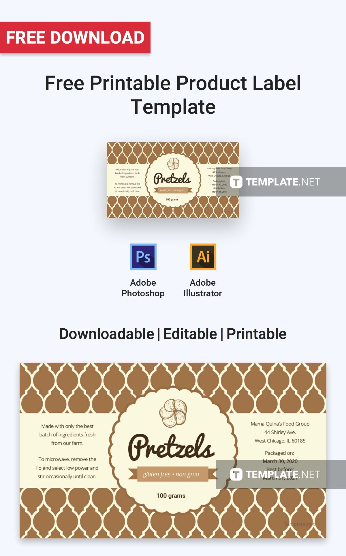 Free Printable Product Label Label Templates Designs 2019