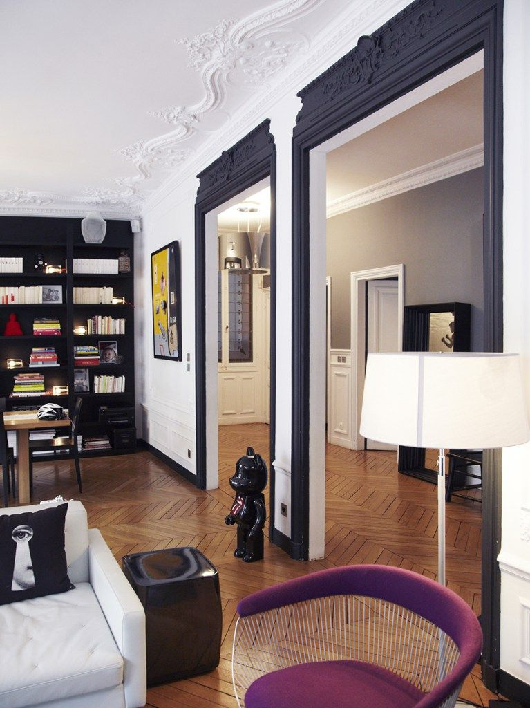 Un intérieur parisien so chic Pinterest Salons, Cosy bedroom and