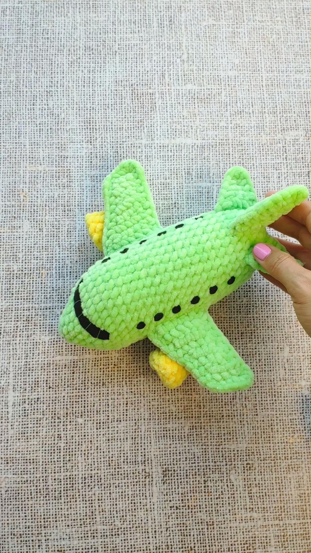 Photo of CROCHET PATTERN PLANE, Amigurumi pattern airplane toy, Crocheted aircraft toy, Crochet transport