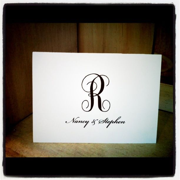Stationery printed in house
