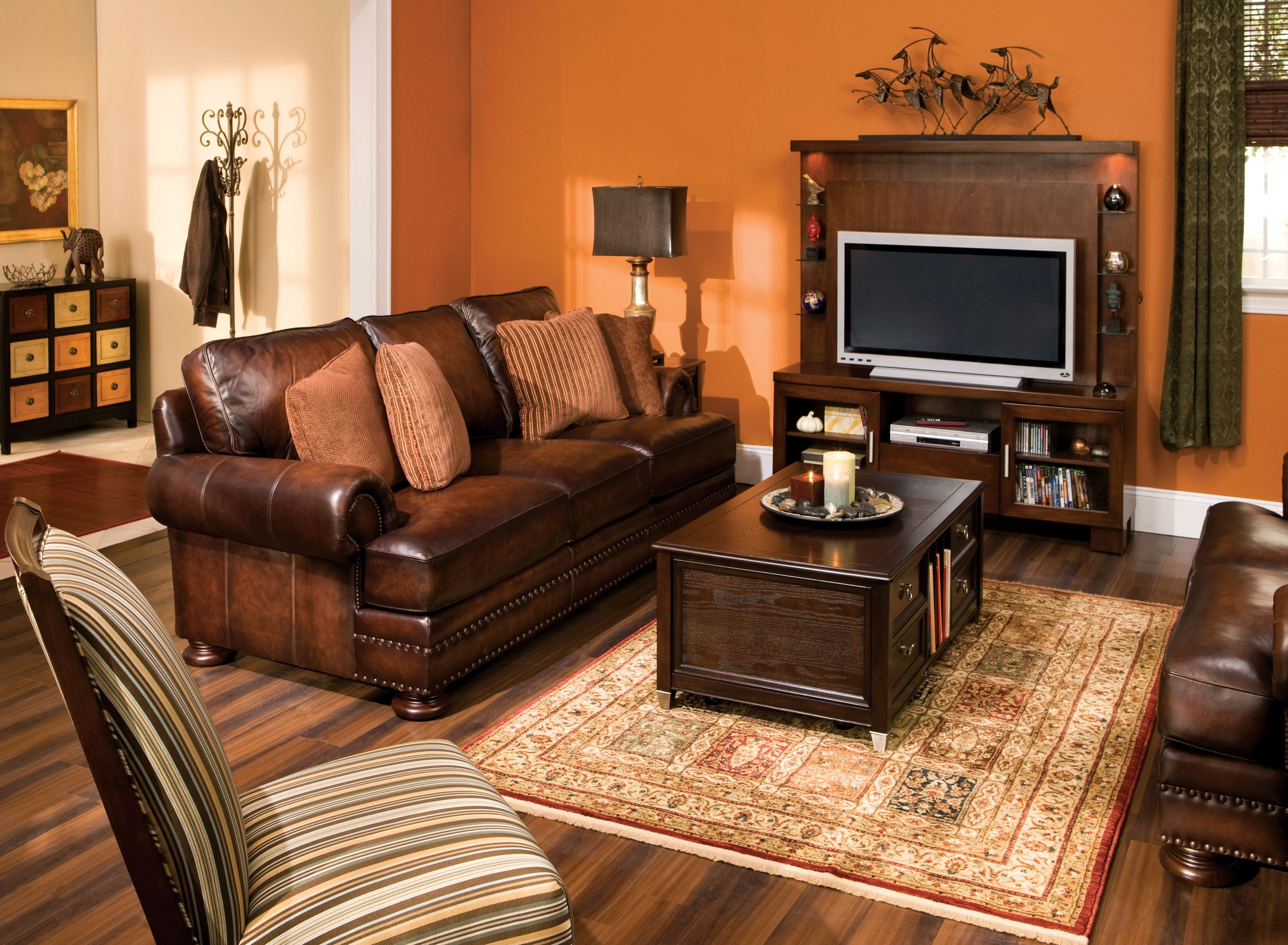 living room ideas with leather furniture%0A Luxury  comfort and elegance will grace your home when you add this Foster leather  sofa    Tv RoomsFamily