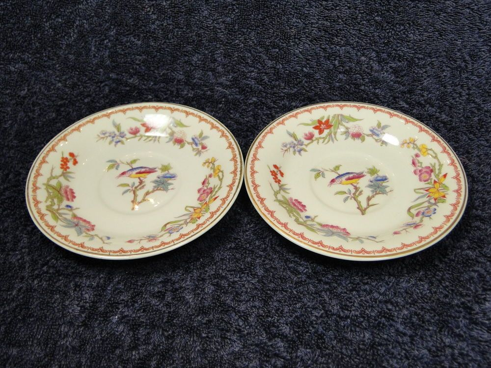 TWO Syracuse China Old Ivory Bombay Saucers - Multi Avail - EXCELLENT! #Syracuse & TWO Syracuse China Old Ivory Bombay Saucers - Multi Avail ...