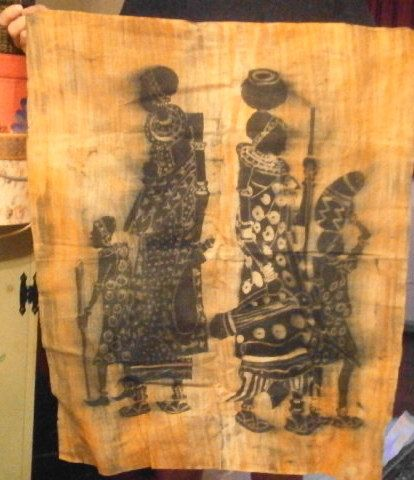 Marked Down ///Fantastic Handmade AFRICAN BATIK HANGING by sunnfox