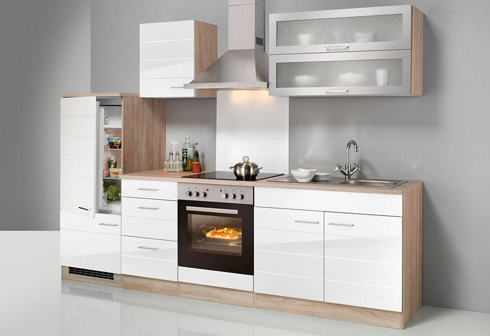 HELD MÖBEL Küchenzeile mit E-Geräten »Emden, Breite 270 cm« Jetzt - küchenzeile 240 cm mit geräten