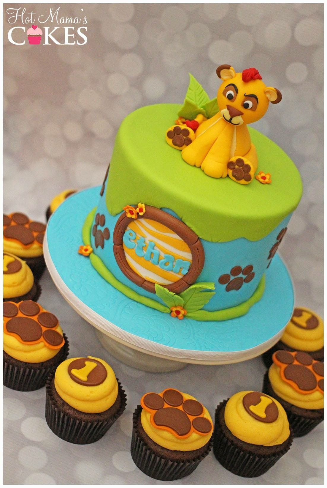 Lion Guard Inspired Cake And Cupcakes With Images Lion