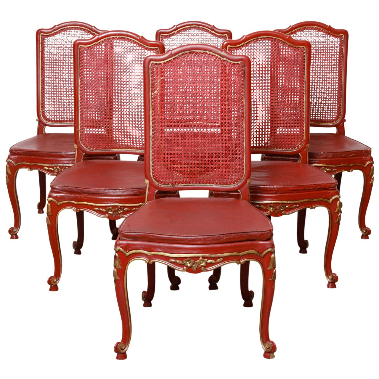 red lacquered furniture. Set Of Six Red Lacquered English Chinoiserie Style Dining Chairs Furniture