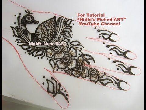 Mehndi Henna Designs Peacock : Cute easy flowery peacock fusion henna mehndi design tutorial by