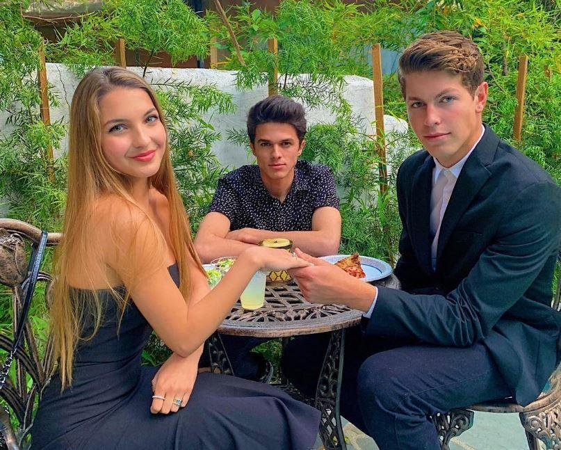 Boyfriend, Ben Azelart holds Lexi Rivera's hands