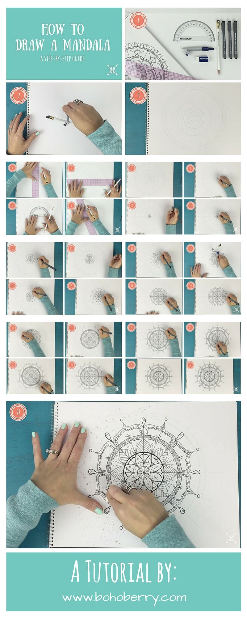 How to Draw a Mandala - A Step-by-Step Guide | How to Sheets ...