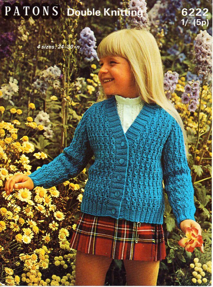Childrens Cardigan Knitting Pattern Pdf Girls Textured Cardigan