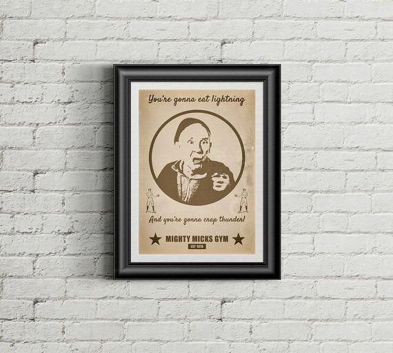 Rocky Balboa Movie Poster - 'Mighty Micks Gym' Retro Fan Art