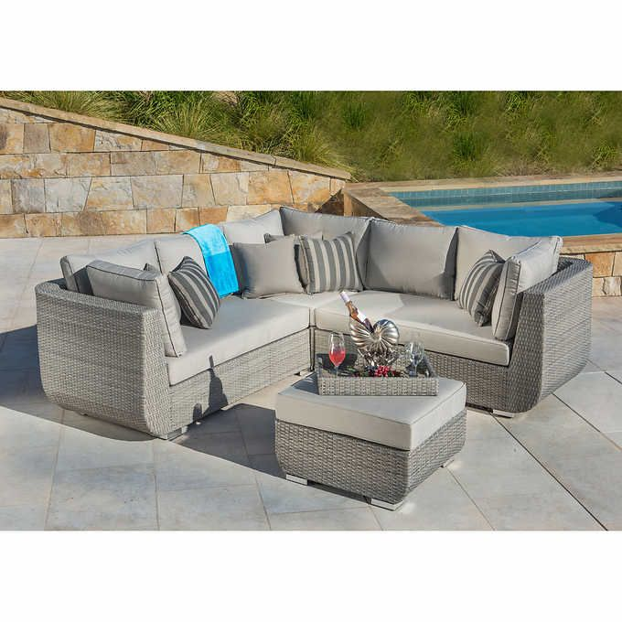 sirio urban grey 4 piece sectional set deck pinterest costco rh pinterest co uk