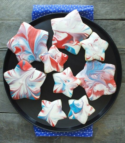 Amozzing! Red, White & Blue Swirled Cookies